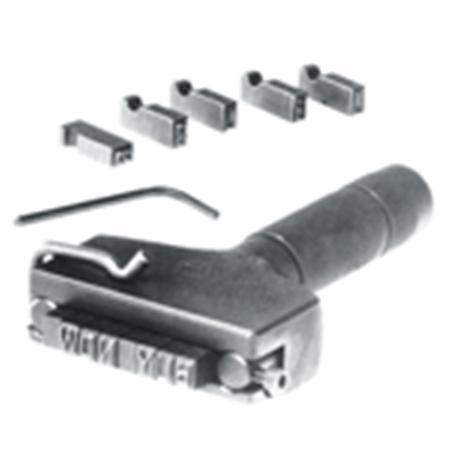 Steel Type Hand Model Type Holder - 12 Character Capacity, 1/8 Inch High Holder