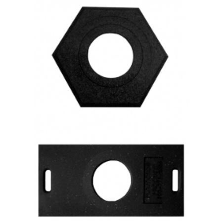 Navicade™ Stackable Delineator - 30 lb. Rubber Base