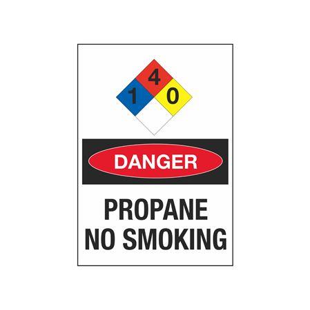 NFPA Chemical Signs - Propane No Smoking 7 x 10