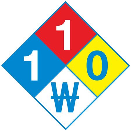 Preprinted NFPA Diamond Labels - 2 x 2 in. Roll/500