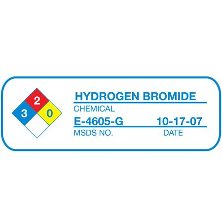 Preprinted NFPA Labels - NFPA44C 1 x 3 inches