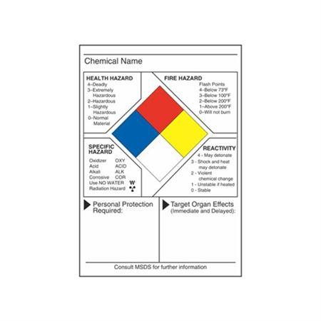 NFPA Data Label - NFPA Data Label 7 x 10