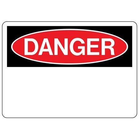Custom OSHA Danger Headers Facility Signs