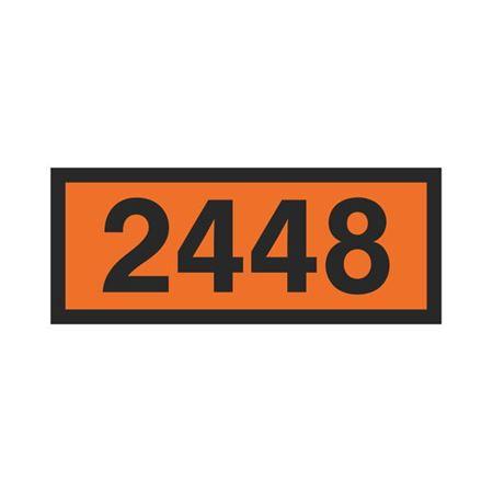 Printed Orange Panels - 2448 Orange Panel 160mm x 400mm