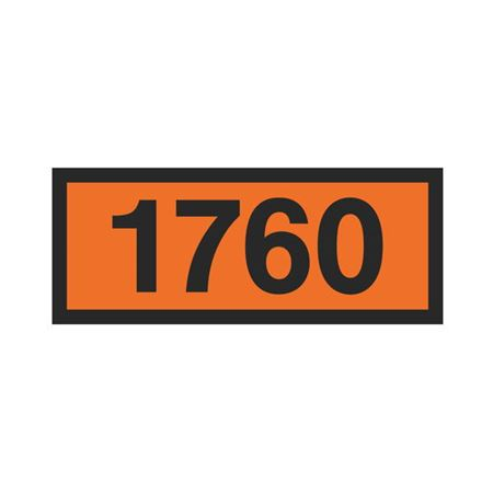 Printed Orange Panels - 1760 Orange Panel 160mm x 400mm