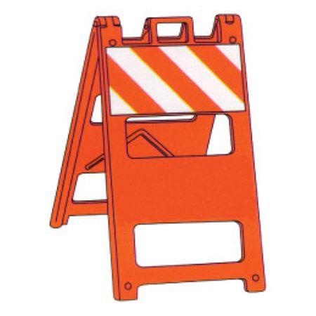 Reflective Jumbo Type 1 Barricade Striped Orange Reflective