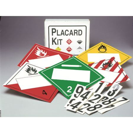 Placard Kits with I.D. Numbers - Vinyl