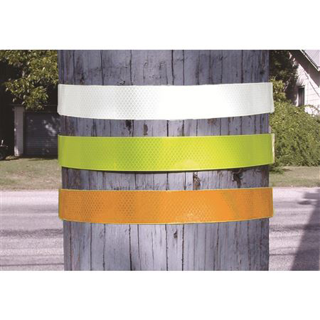 Pole Reflectors - Diamond Grade Reflectors - Yellow-Green