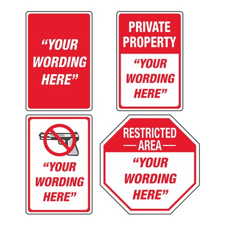 Custom Property Protection Sign