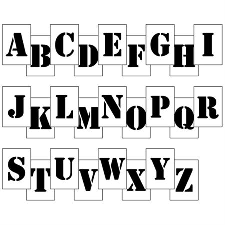 "Polyethylene Stencil 3 to 12"" Letter Kits"