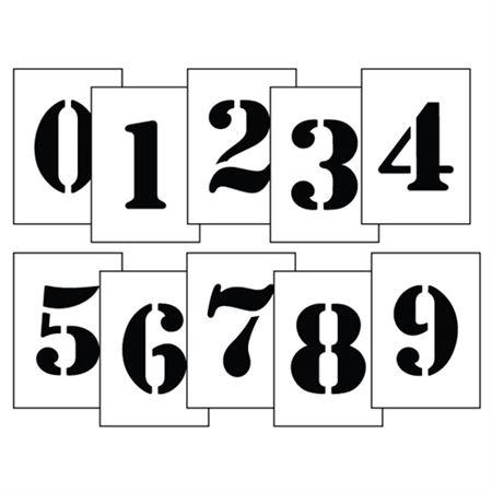 "Polyethylene Stencil 3 to 12"" Number Kits"