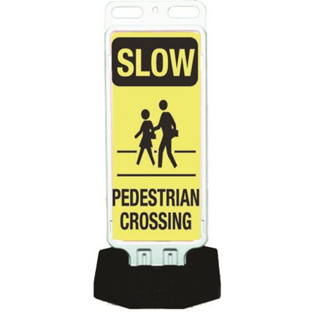 Portable Sign System - Slow Pedestrian Crossing 12 x 30
