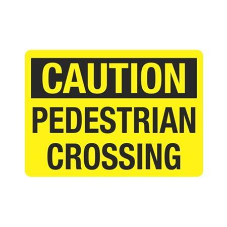 Caution Pedestrian Crossing Sign