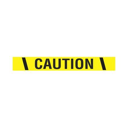 "Printed Vinyl Tape - Caution 2"" x 100'"