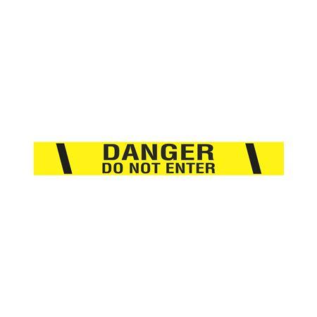 "Printed Adhesive Tape - Danger Do Not Enter 2"" x 100'"