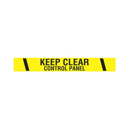 "Printed Vinyl Tape - Keep Clear Control Panel  2"" x 100'"