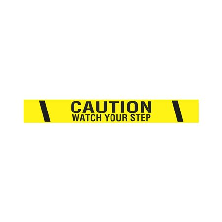 """Printed Adhesive Tape - Caution Watch Your Step 2"""" x 100'"""