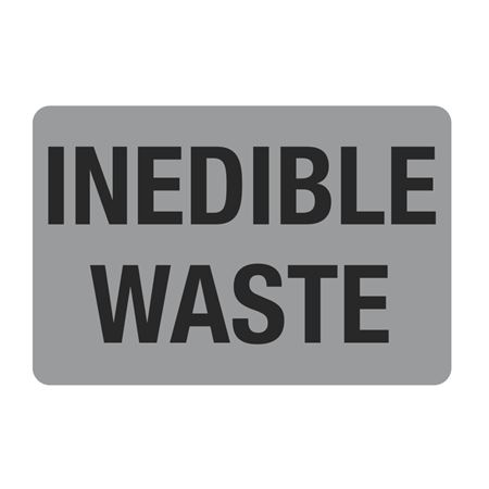 """Food Facility Labels Inedible Waste 500/RL 4"""" x 6"""""""