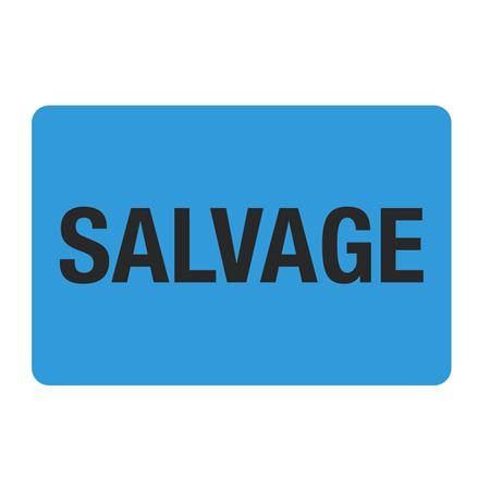 "Food Facility Labels Salvage 500/RL 4"" x 6"""
