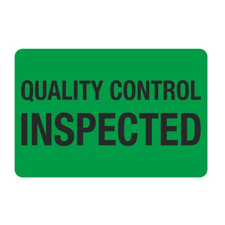 "Food Facility Labels Quality Control Inspected 500/RL 4"" x 6"""