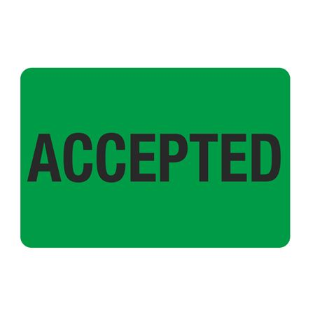 """Food Facility Labels Accepted 500/RL 4"""" x 6"""""""