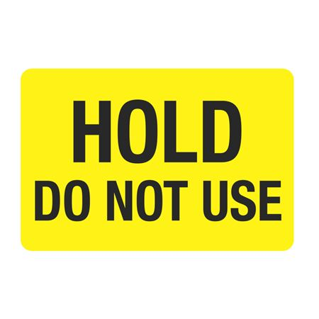 """Food Facility Labels Hold Do Not Use 500/RL 4"""" x 6"""""""