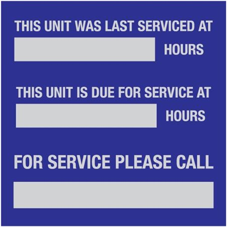 Service Tags -This Unit Was Last Serviced - 3 x 3