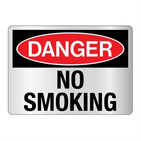 Danger No Smoking Sign - Reflective