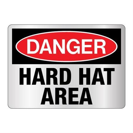 Danger Hard Hat Area Sign Reflective