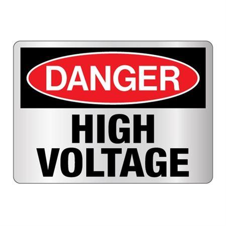 Danger High Voltage Sign - Reflective