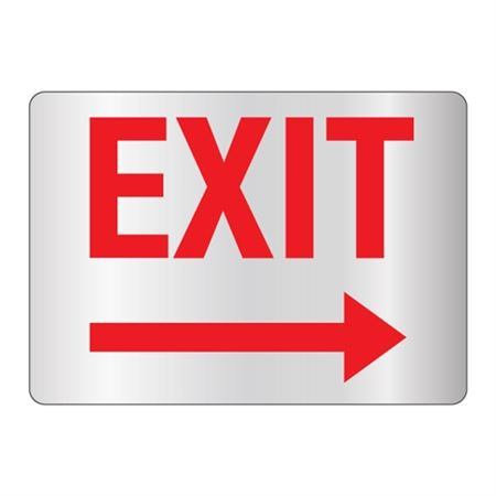 Exit - Right Arrow Sign Reflective