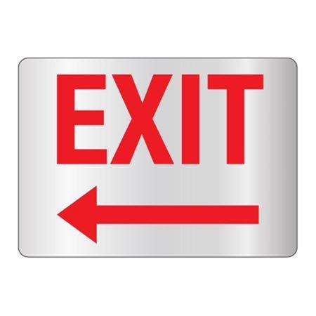 Exit - Left Arrow Sign Reflective