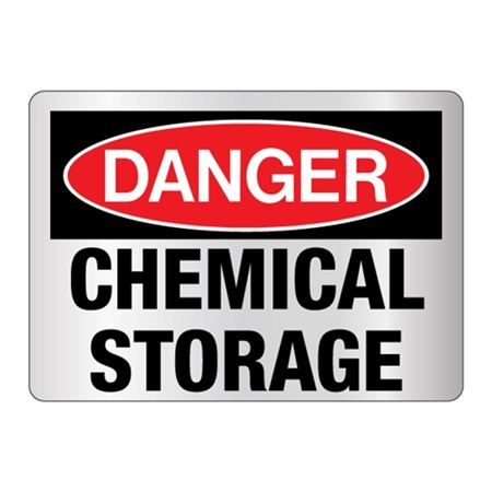 Danger Chemical Storage Sign Reflective