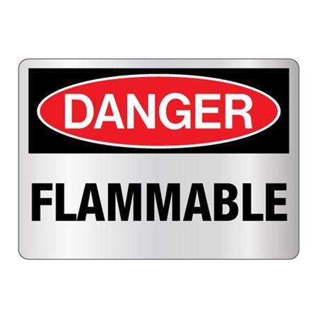 Danger Flammable Sign - Reflective