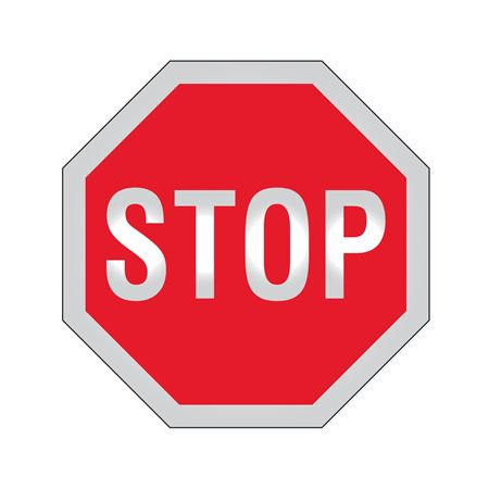 Stop Sign - STOP  Reflective 12 X 12