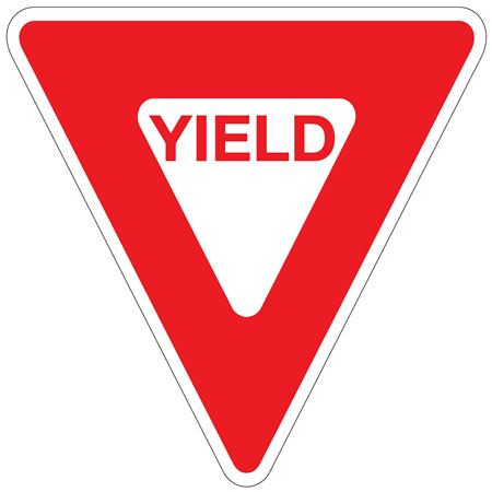 Yield - High Intensity Reflective 30 x 30 Triangle