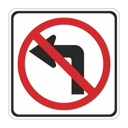 No Left Turn (Graphic) - Engineer Grade Reflective 30x30 30 x 30