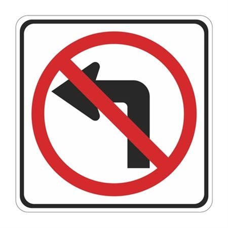 No Left Turn (Graphic)  High Intensity Reflective 30x30