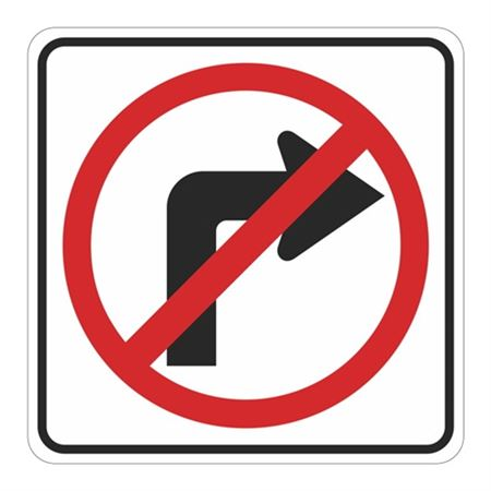 No Right Turn (Graphic) High Intensity Reflective 24x24