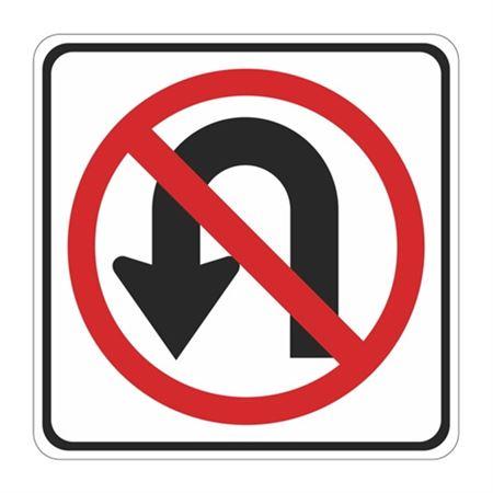 No U Turn (Graphic) - High Intensity Reflective 24 x 24