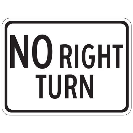 No Right Turn - Engineer Grade Reflective 18 x 24