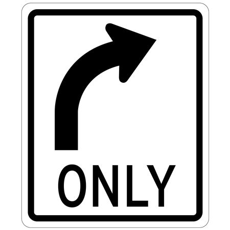 Right Arrow (Graphic) Only - Engineer Grade Reflective 30 x 36