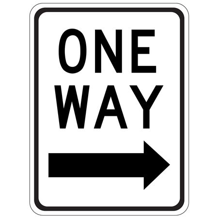 One Way (Right Arrow) - High Intensity Reflective 18 x 24