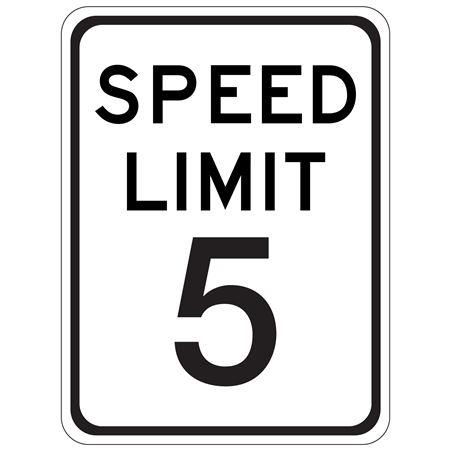 Speed Limit 5 - 18 x 24