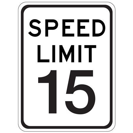 Speed Limit 15 - 18 x 24