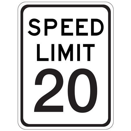 Speed Limit 20 - 18 x 24