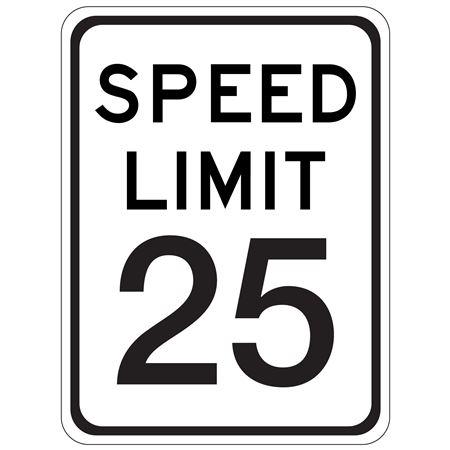 Speed Limit 25 - 18 x 24