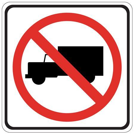 No Trucks (Graphic) - 24 x 24