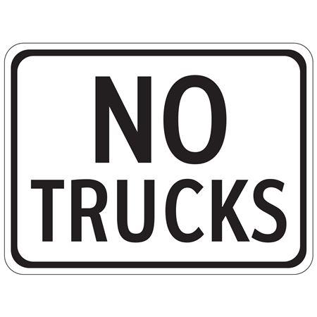 No Trucks - 18 x 24