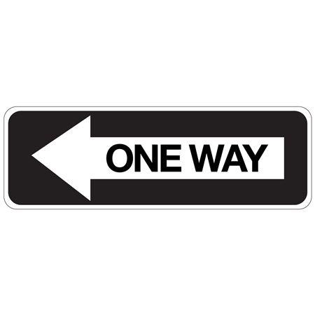 One Way (Left Arrow) - Engineer Grade Reflective 12 x 36